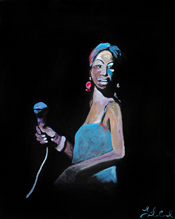 Photo of painting interpretation of Nina Simone by Leila Currah