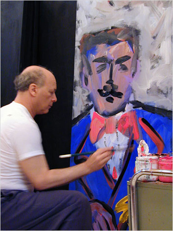 E.J. Gold in his studio