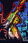 Stage Panel Painting -- Guitar Line -- by E.J. Gold