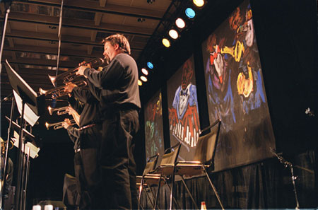 E.J. Gold's art graces the stages at the 2003 IAJE Conference in Toronto