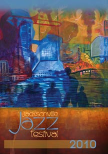 Jacksonville Jazz Festival Official Poster by Marsha Hatcher, prints for sale