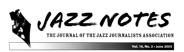 Masthead for Jazz Notes by the Jazz journalists association