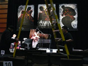 Photo of JazzArt installation at Jenny  concert at Mondavi Center for the Performing Arts
