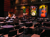 Photo of JazzArt installation at JennyScheinman concert at Mondavi Center for the Performing Arts