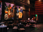Photo of JazzArt installation at Jenny Scheinman concert at Mondavi Center for the Performing Arts