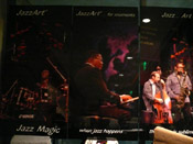 Photo of JazzArt installation at Miguel Zenon concert at Mondavi Center for the Performing Arts